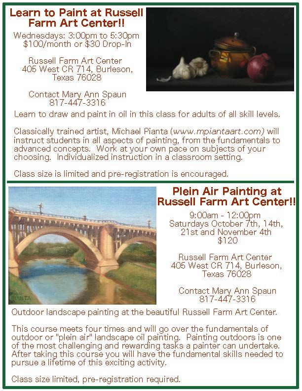 Flyer for Russell Farm classes