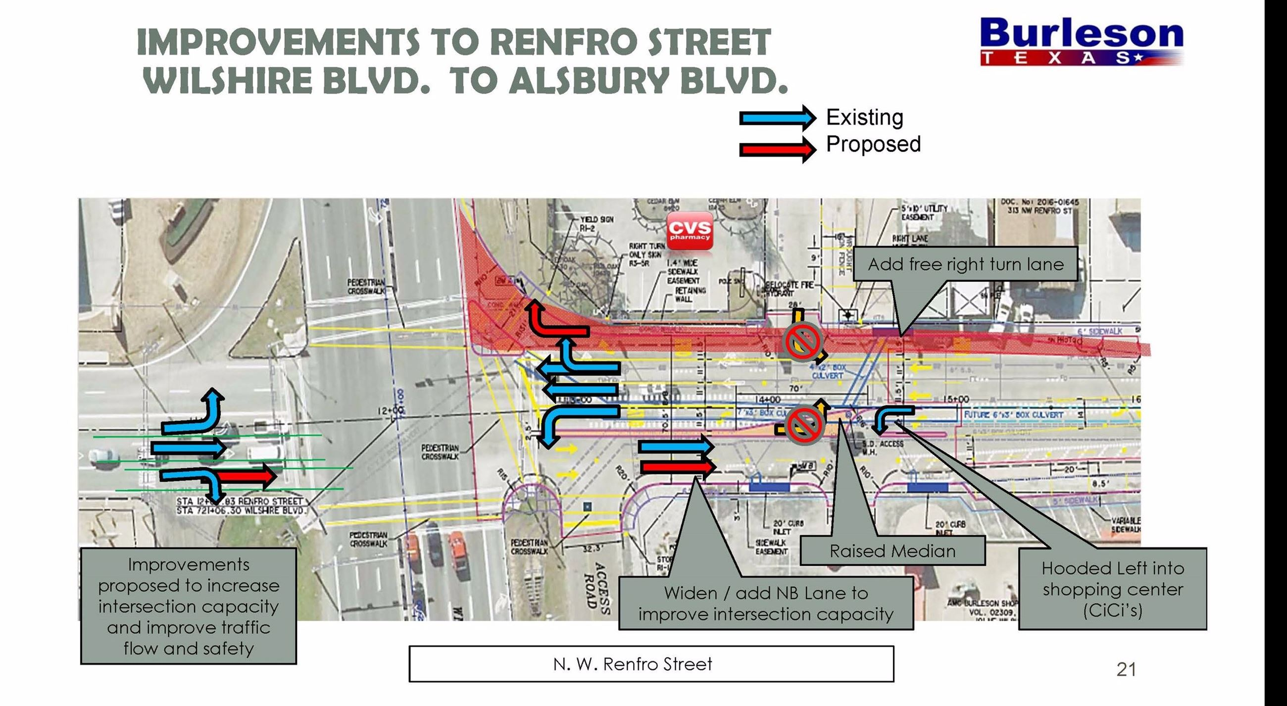 Renfro st improvments from 174 to alsbury map