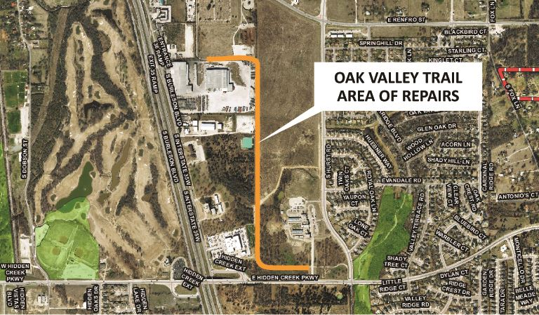 Oak Valley Trail Concrete Repair Map City Website 030918