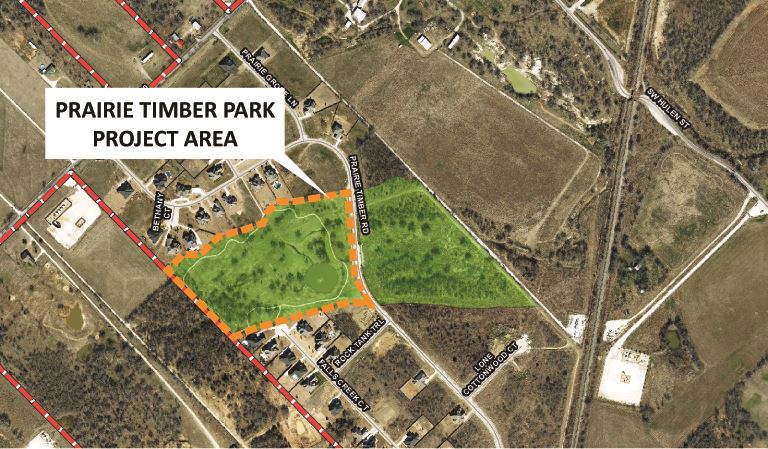 Prairie Timber Park Project Map City Website 030918