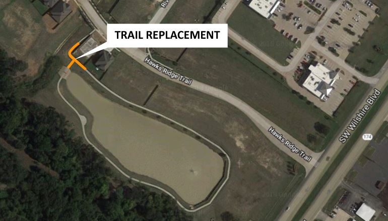 Willow Creek Park Trail Replacement Project Map City Website 030818