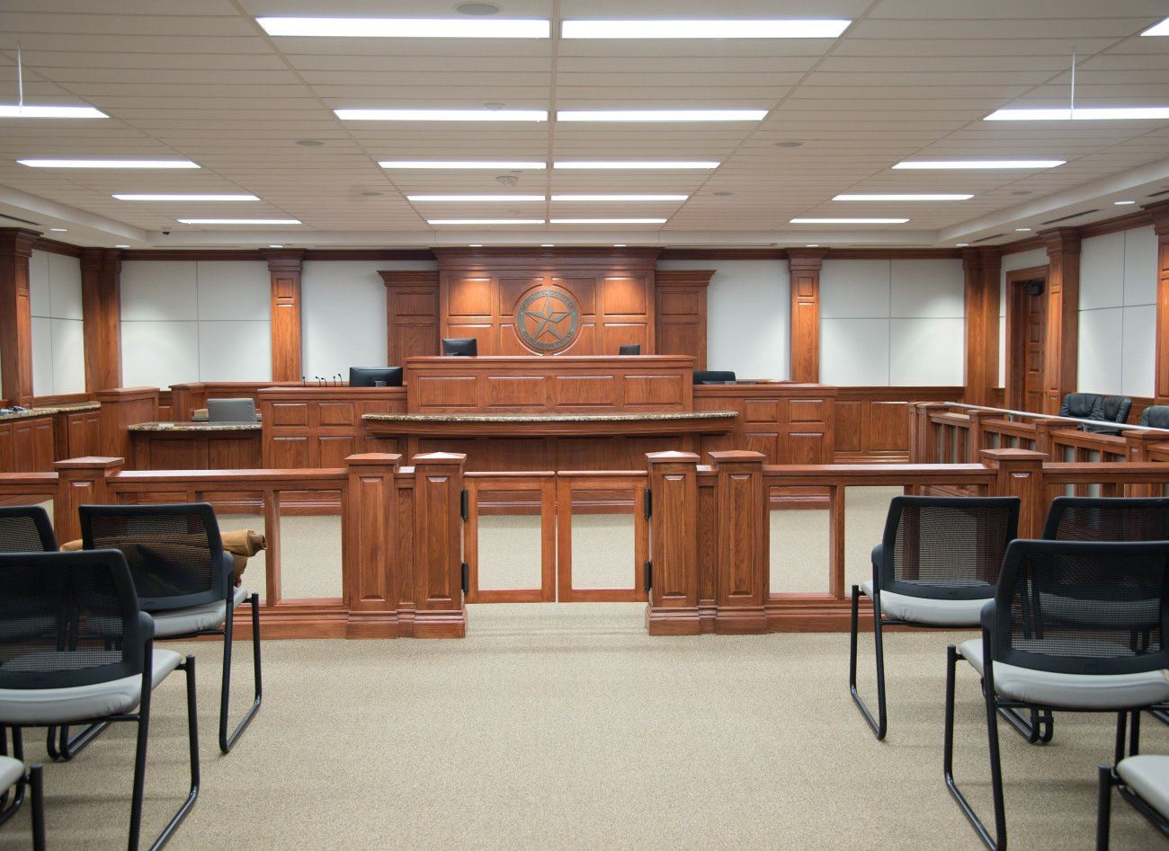 Court room at Municipal Court