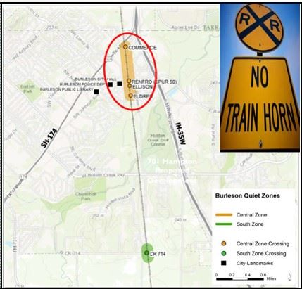 railroad quiet zones map