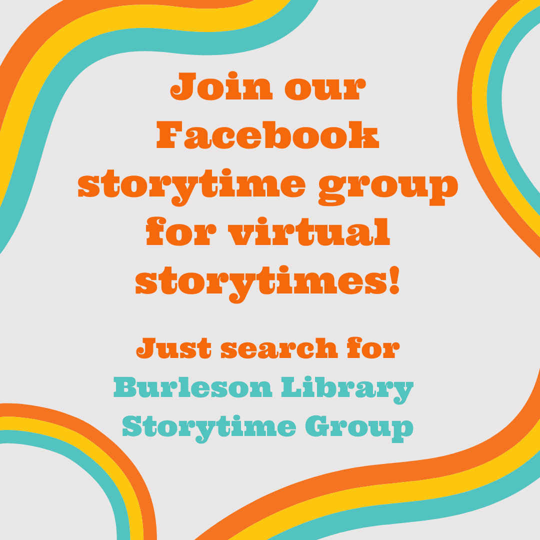 Join our Facebook storytime group!