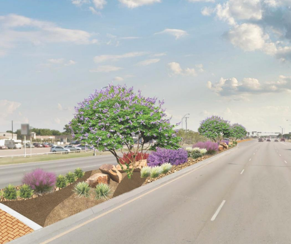 174 median beautification project