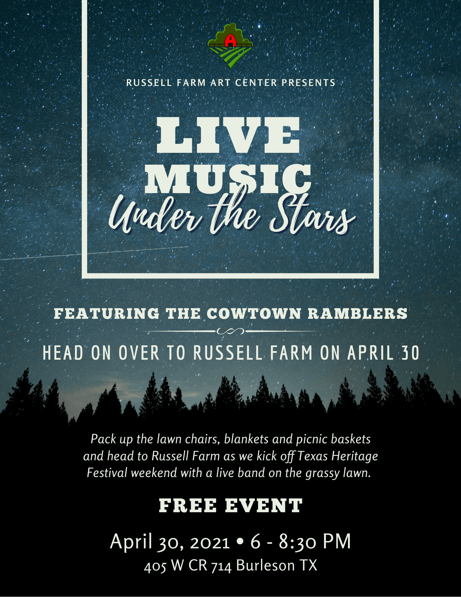 flyer Live Music Under the Stars (2)