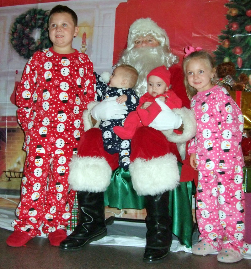 photo of kids with Santa