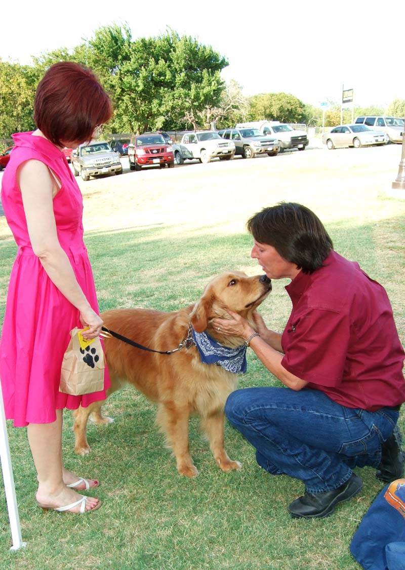 Photo of women and dog-Yappy Hour at Lone Oak Winery