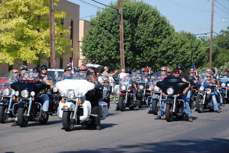 photo of motorcycle riders in July 4, 2012 Parade