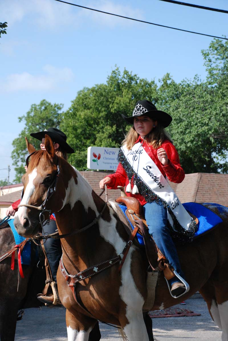 phot of girl on horseback in July 4, 2012 Parade