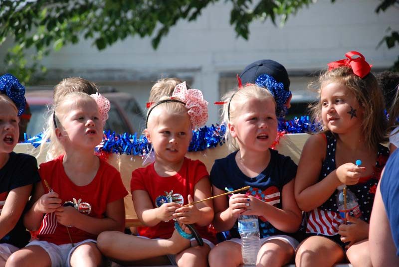 photo of kids in July 4, 2012 Parade