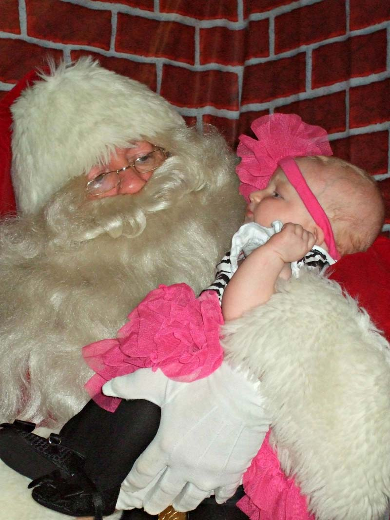 Santa Holds Baby Girl