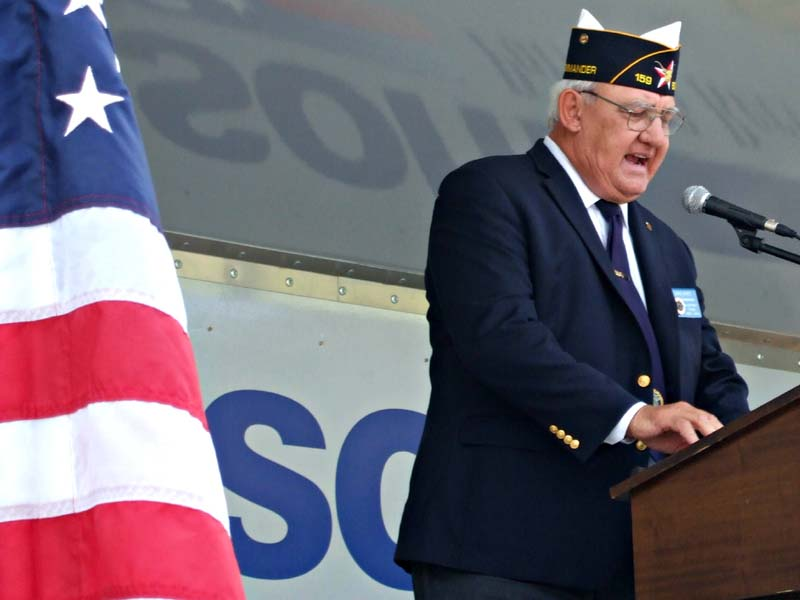 6th District Commander John HinceMilitary Vet Trib