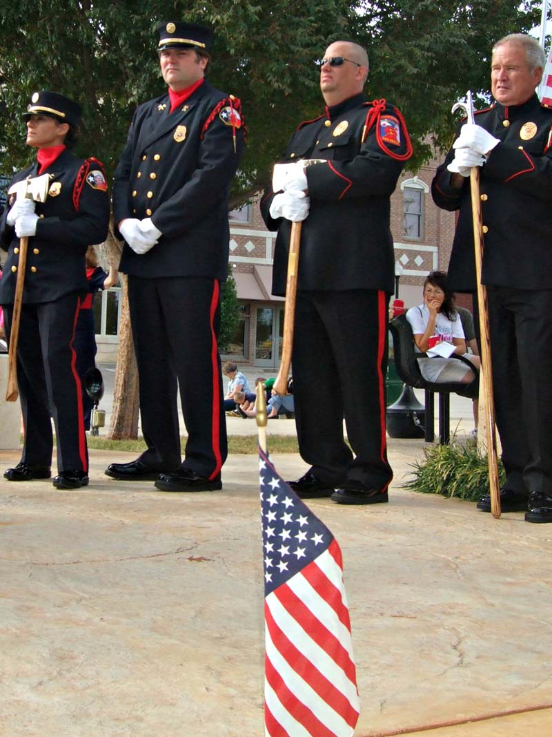 BFD and  ESC Honor GuardsMilitary Vet Tribute 2012