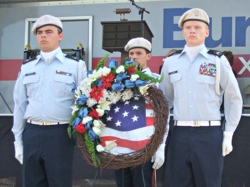 ROTC, wreathMilitary Vet Tribute 2012