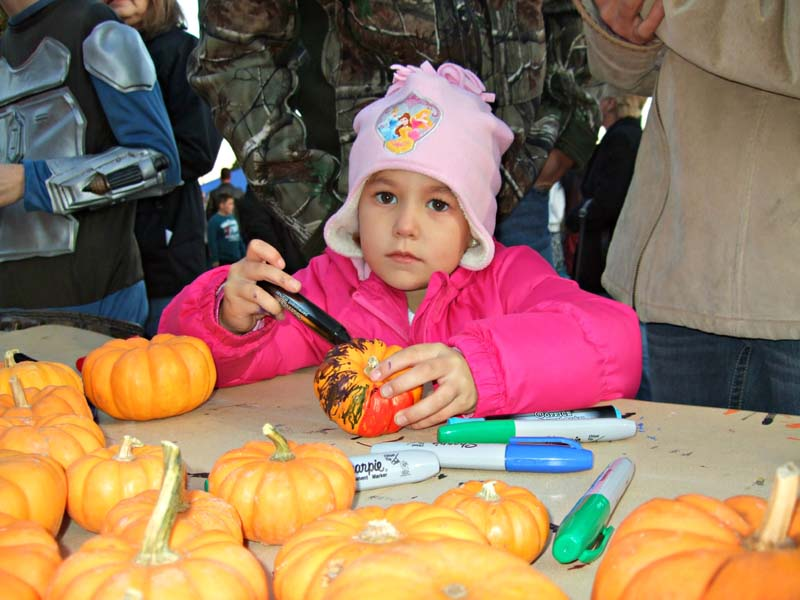 photo of little princess and the pumpkins